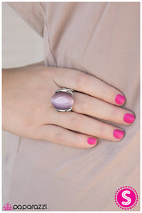Shoot For The Moon - Purple - Paparazzi ring