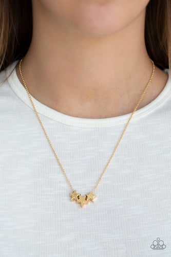 Shoot For the Stars - gold - Paparazzi necklace
