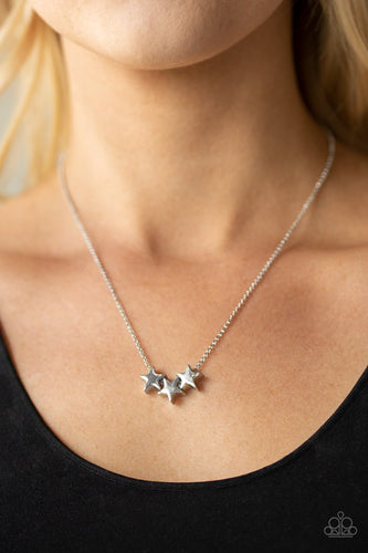 Shoot for the Stars-silver-Paparazzi necklace