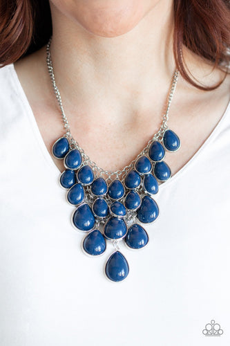 Shop Till You Teardrop-blue-Paparazzi necklace