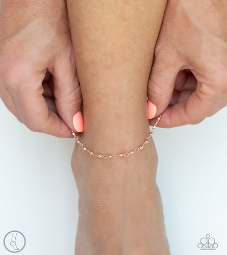 Shore Shimmer-rose gold-Paparazzi anklet