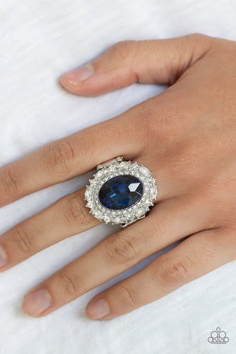 Show Glam-blue-Paparazzi ring