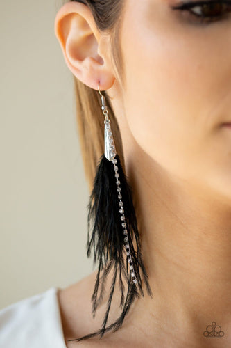 Showstopping Showgirl-black-Paparazzi earrings