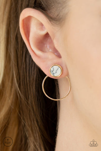 Simply Stone Dweller - gold - Paparazzi earrings