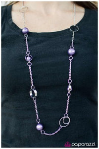 Sing Me A Song, Mr. Piano Man - Purple -Paparazzi necklace