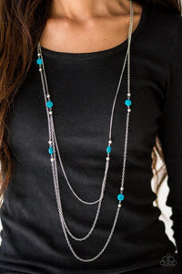 So SHORE of Yourself-blue-Paparazzi necklace