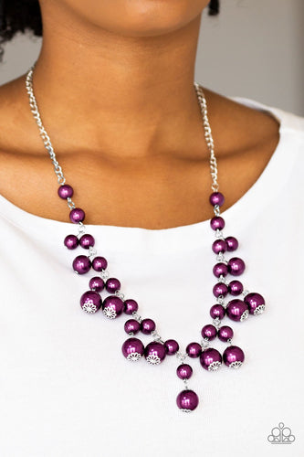 Soon To Be Mrs - purple - Paparazzi necklace