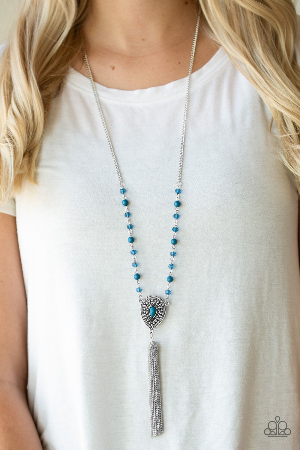 Soul Quest - blue - Paparazzi necklace