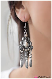 Southern Melodies - White - Paparazzi earrings