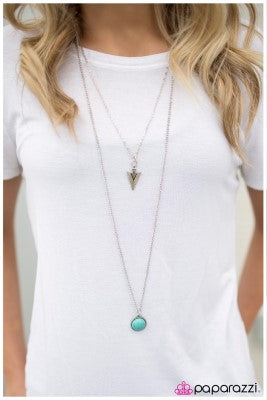 Southern Style - Blue - Paparazzi necklace