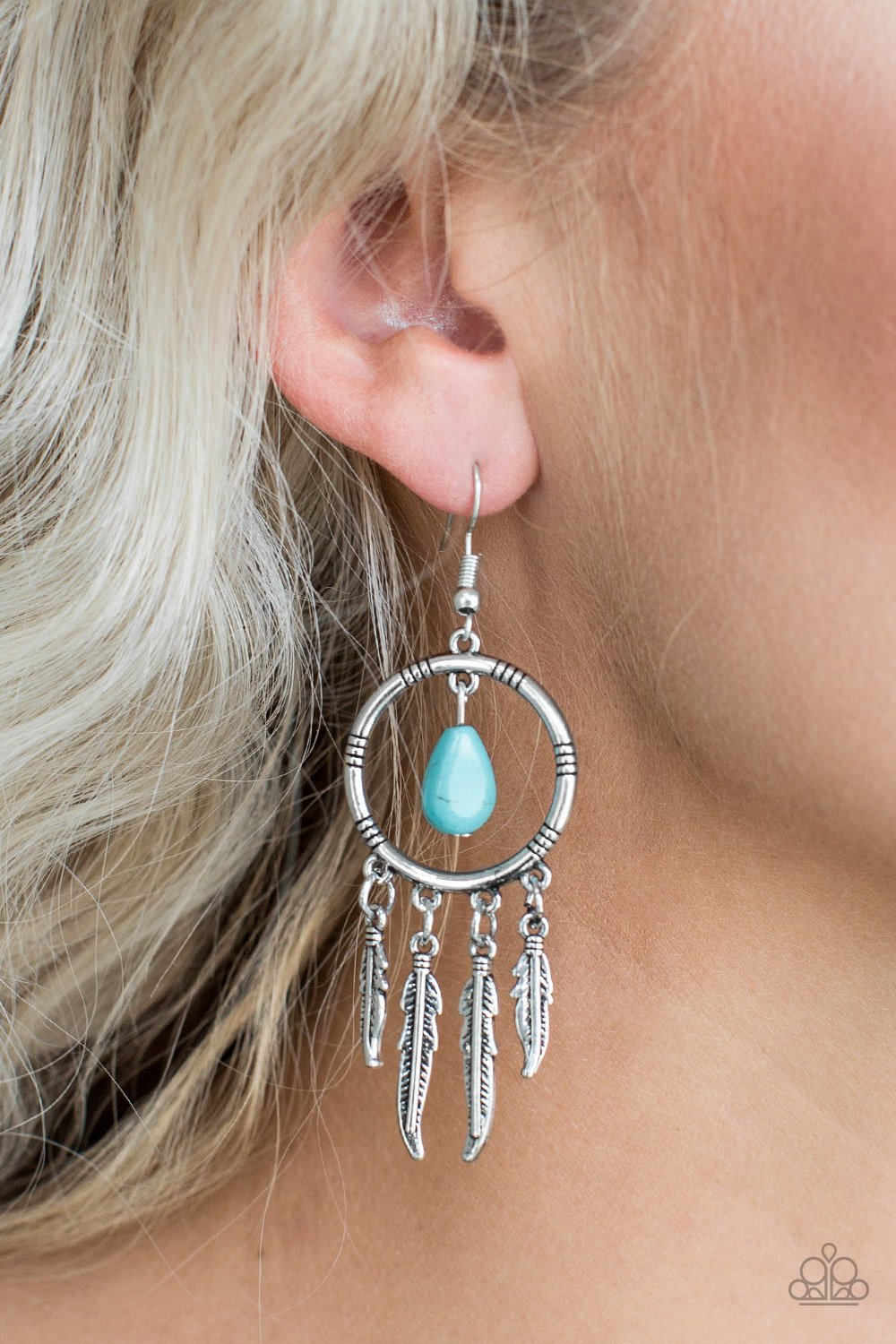 Southern Plains - blue - Paparazzi earrings