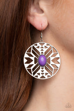 Load image into Gallery viewer, Southwest Walkabout - purple - Paparazzi earrings