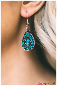 Sparkle In the Rain - blue - Paparazzi earrings