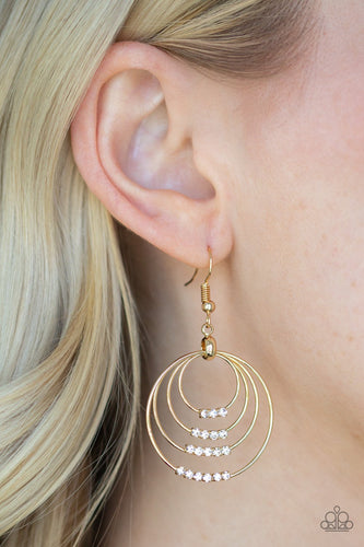 Sparkle Spectrum-gold-Paparazzi earrings