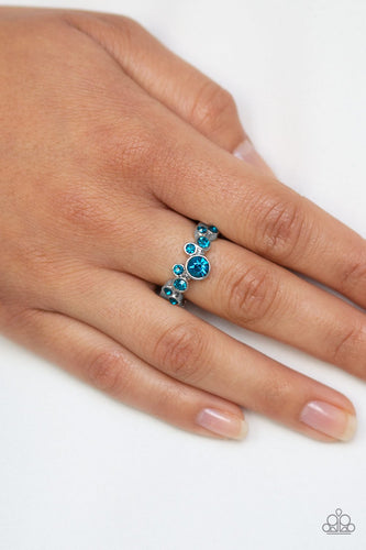 Sparkle Spree-blue-Paparazzi ring