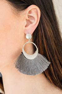 Spartan Spirit - silver - Paparazzi earrings