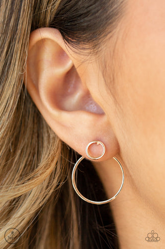 Spin Cycle - rose gold - Paparazzi earrings