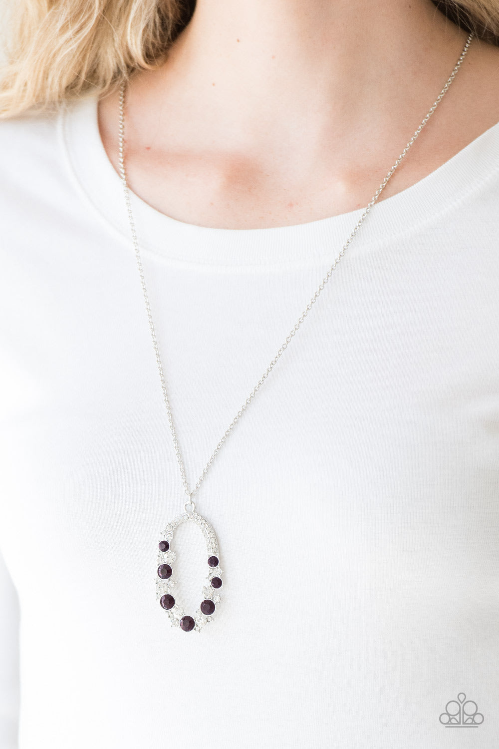 Spotlight Social - purple - Paparazzi necklace