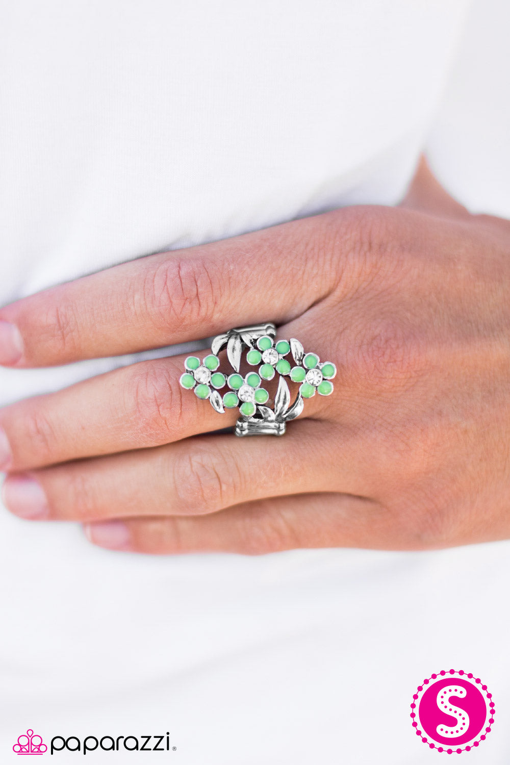 Spring Delight - Green - Paparazzi ring