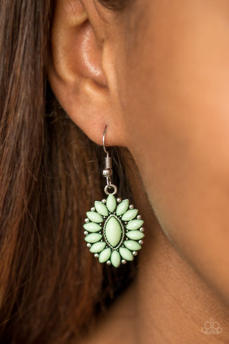 Spring Tea Parties - green - Paparazzi earrings