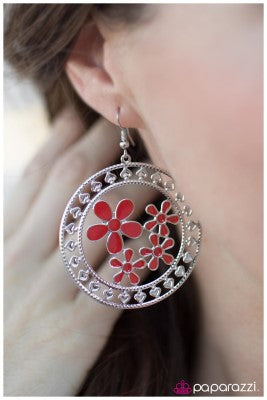 Springtime Pleasure - Red - Paparazzi earrings