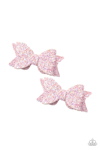 Sprinkle On The Sequins - pink - Paparazzi hair clip
