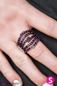 Stack Attack - Purple - Paparazzi ring