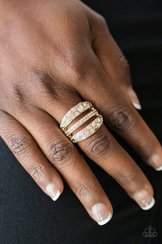 Stacks On Stacks On Stacks - gold - Paparazzi ring