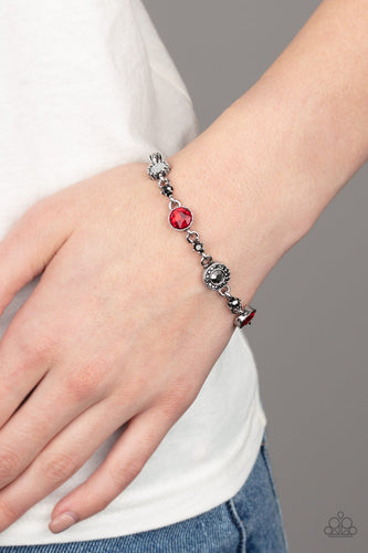 Stargazing Sparkle-red-Paparazzi bracelet