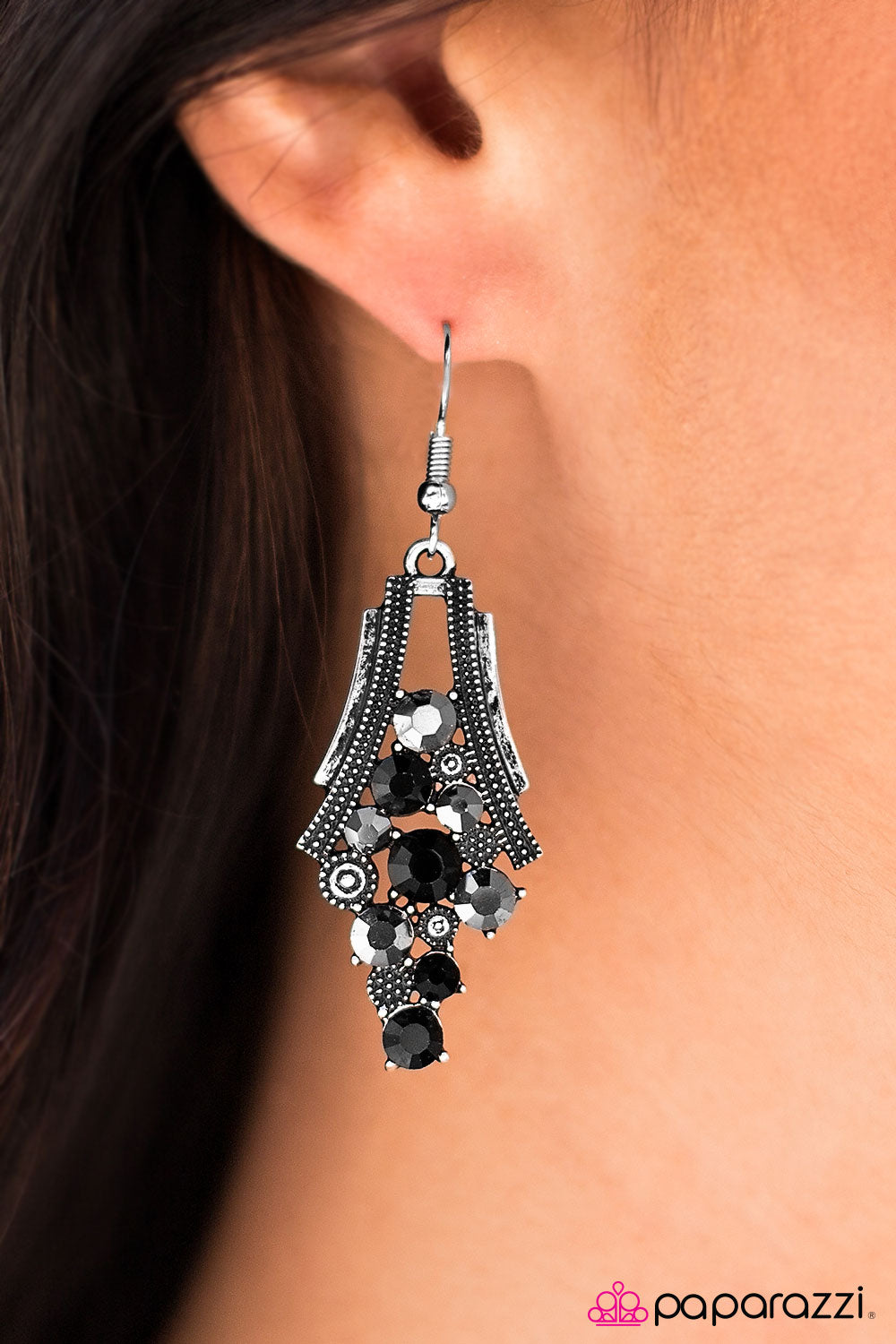 Starlight Samba - Black - Paparazzi earrings