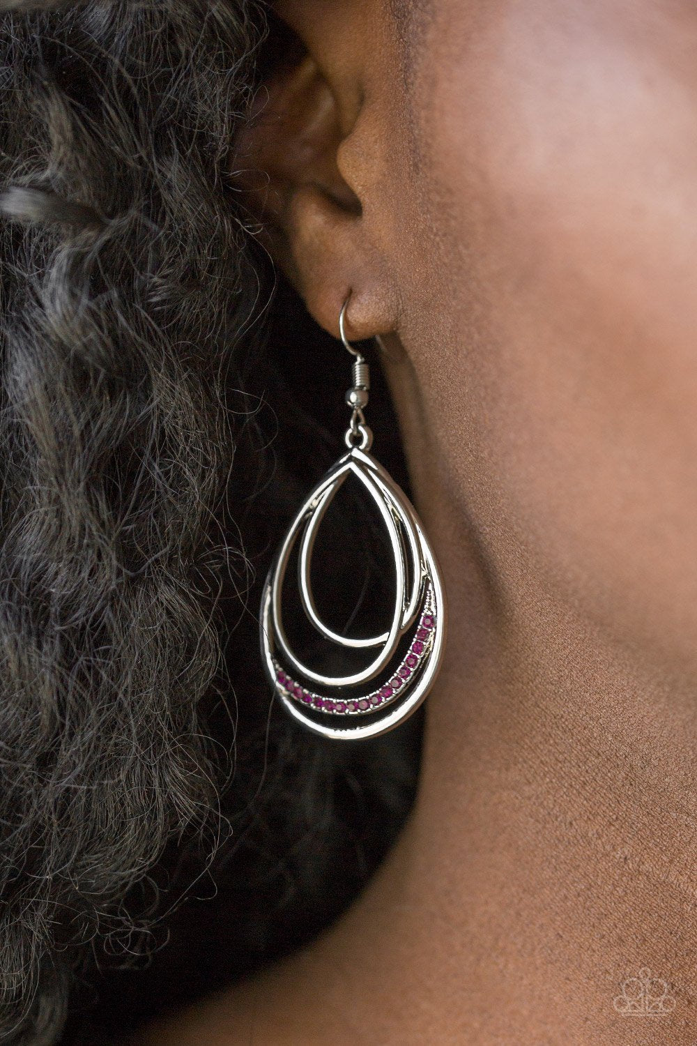 Start Each Day with Sparkle - purple - Paparazzi earrings