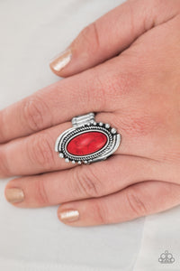 Stone Mountains - red - Paparazzi ring