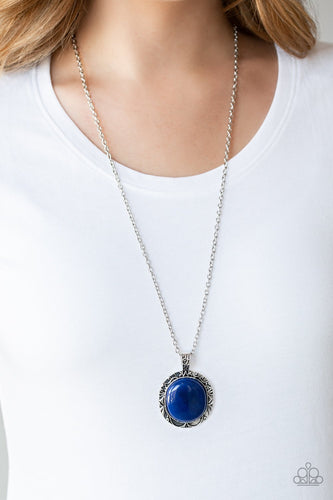 Stone Aura-blue-Paparazzi necklace