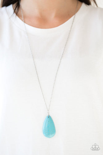 Stone River - blue - Paparazzi necklace