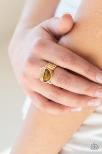 Stone Seeker-brown-Paparazzi ring