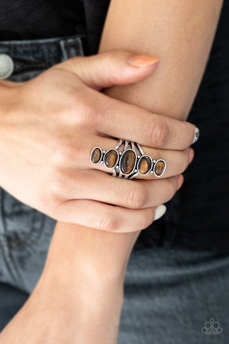 Stone Sublime-brown-Paparazzi ring
