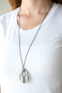 Stop Teardrop and Roll - multi - Paparazzi necklace