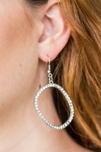 Stoppin Traffic - white - Paparazzi earrings