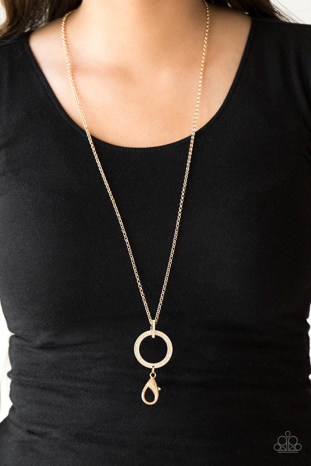 Straight to the Top - gold - Paparazzi LANYARD necklace
