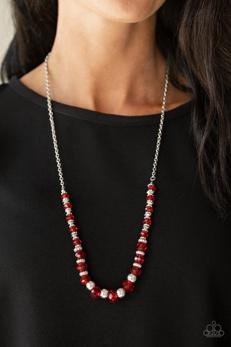Stratosphere Sparkle - red - Paparazzi necklace