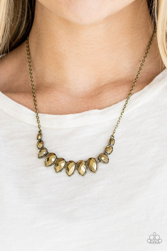 Street Regal-brass-Paparazzi necklace