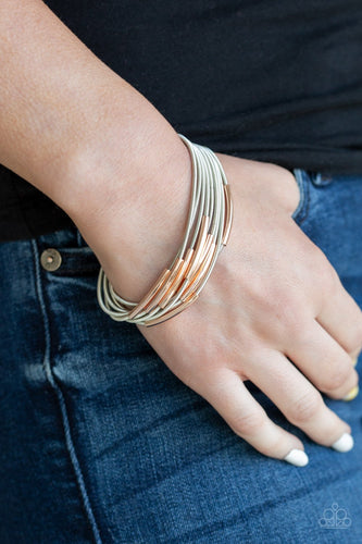 Stretch Your Boundaries - silver - Paparazzi bracelet
