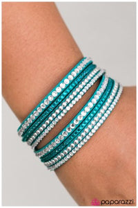 Strong is the New Beautiful - blue - Paparazzi bracelet