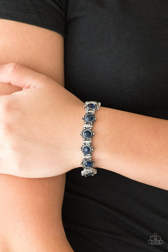 Strut Your Stuff-blue-Paparazzi bracelet