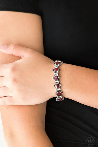Strut Your Stuff-red-Paparazzi bracelet