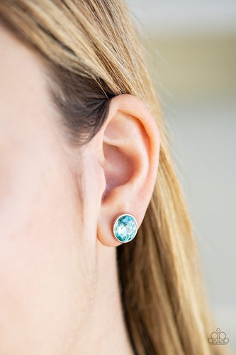 Stunning Shine - blue - Paparazzi earrings