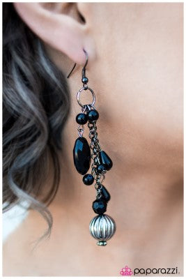 Suddenly Splendid - Black - Paparazzi earrings