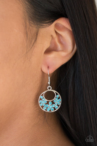 Sugary Shine-blue-Paparazzi earrings