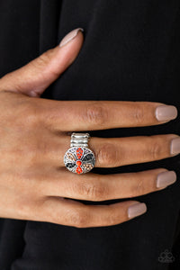 Summer Sandcastles - red - Paparazzi ring