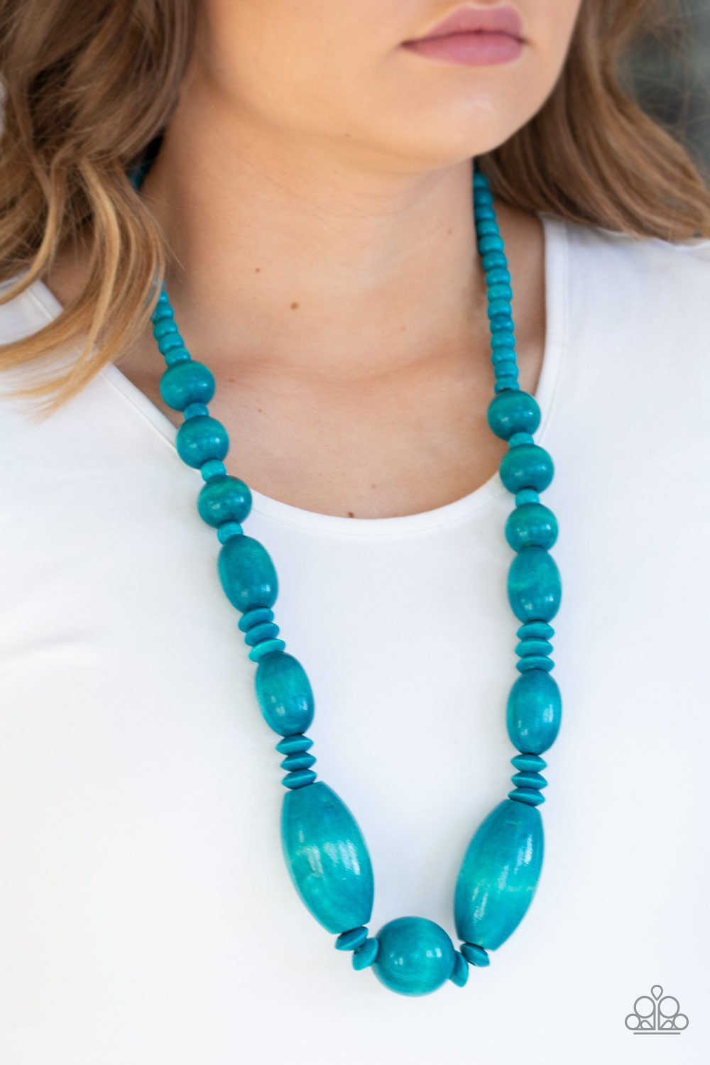 Summer Breezin-blue-Paparazzi necklace
